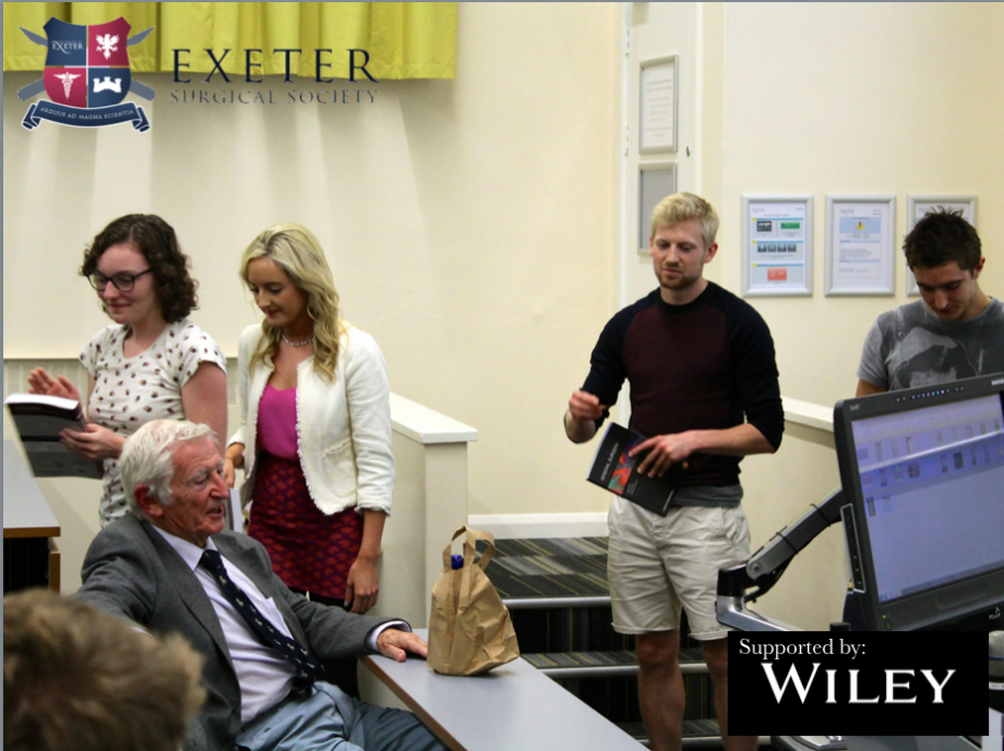 A Successful Evening With Professor Harold Ellis Exeter Surgical Society